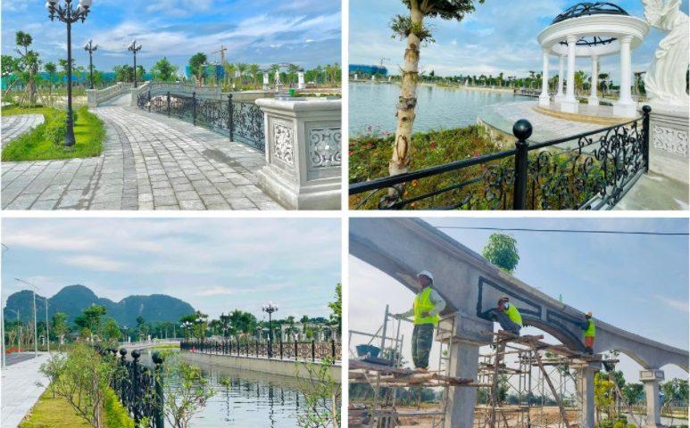 Tiến độ công viên hồ mắt rồng Danko City Tháng 9-2021